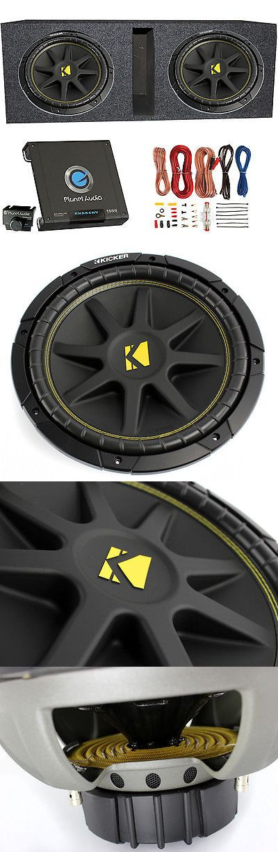Car Subwoofers: 2) Kicker 43C124 600 Watt 12 Subwoofers + Ported Box Enclosure + Amp + Wiring BUY IT NOW ONLY: $244.95