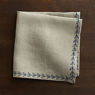Marianna Sprig Linen Napkin  $10.95 Crate and Barrel