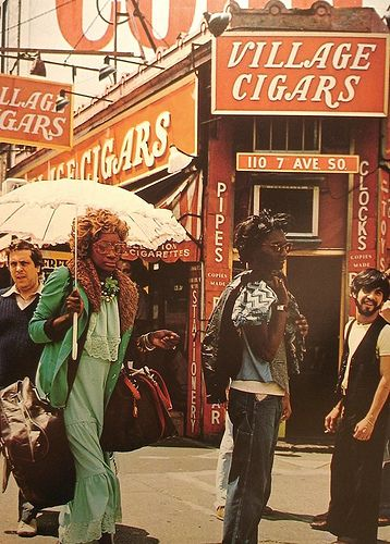 NYC. 1970's Greenwich Village. I can't help thinking of Norman Rockwell's magazine covers