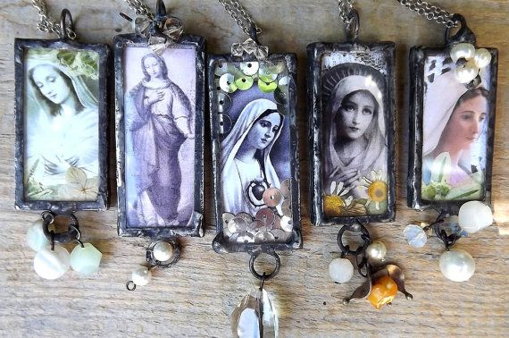 Pendant. Our Lady. Mother of God. Virgin Mary pendants. Sacred pendants. Tiffany…