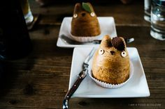 The adorable and delicious Shiro Hige Totoro Cream Puff. You can't go wrong with classic vanilla, but the chestnut may be a pleasant surprise! #food #travel