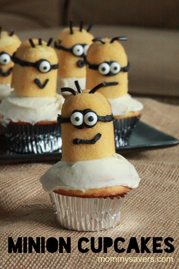 Minion Cupcakes Inspired by Despicable Me