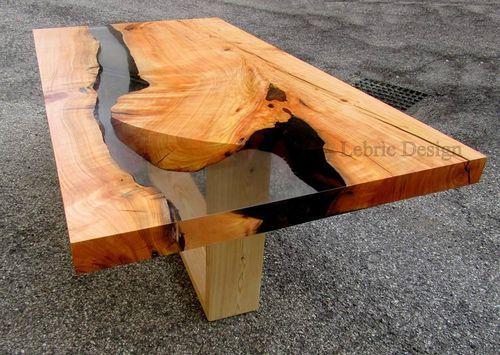 Moderner Esstisch / Holz / aus Harz DANUBIO ANTICO