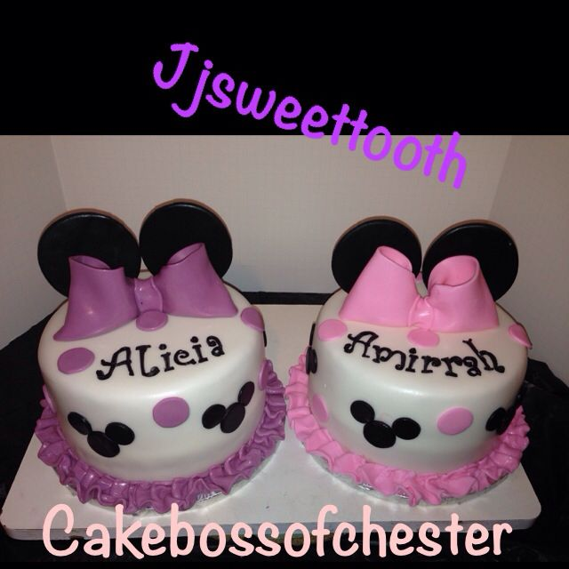 Minnie Mouse cakes for twin girlsTwin Cake, Minnie Mouse Cake