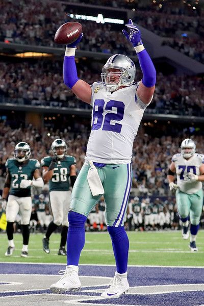 Jason Witten Photos Photos - Jason Witten #82 of the Dallas Cowboys celebrates after scoring the game winning touchdown against the Philadelphia Eagles in overtime at AT&T Stadium on October 30, 2016 in Arlington, Texas. The Dallas Cowboys beat the Philadelphia Eagles 29-23 in overtime. - Philadelphia Eagles v Dallas Cowboys