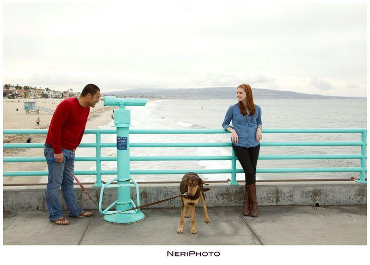 Manhattan Beach engagement by www.NeriPhoto.com