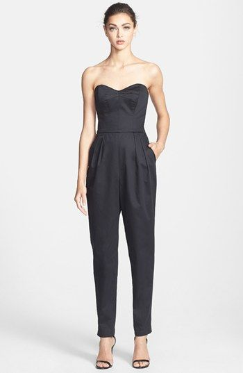 Milly Strapless Jumpsuit available at #Nordstrom