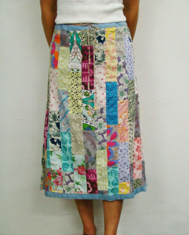 Vertical Patchwork Skirt