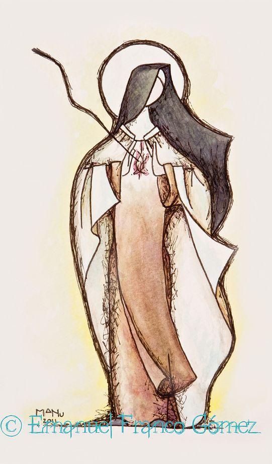 Ste Therese d'Avila... Si por mi preguntaran, decid que me he marchado hacia un lugar secreto y escogido; y explicad, si extrañaran que he hallado mi contento en el lagar total de mi Elegido. Cristina Cammarano