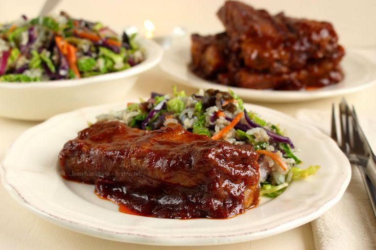 ...konyhán innen - kerten túl...: Kínai sült oldalas édes-pikáns szószban