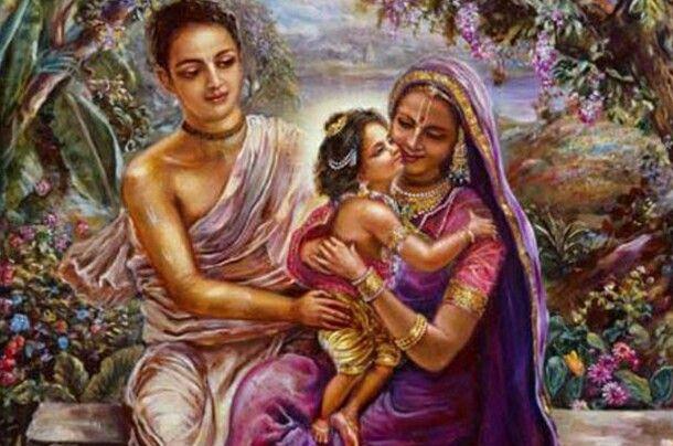 Lord Chaitanya and Parents