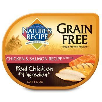 Natures Recipe Grain Free Chicken Salmon Adult Cat Food Trays Case of 18 --  Be