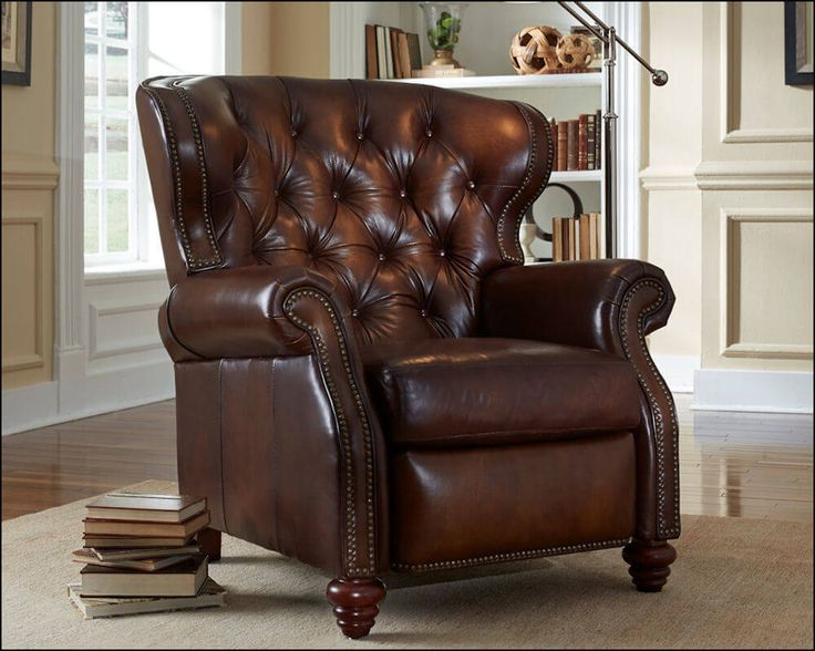 American Made Furniture >> American Made Tufted Leather Recliner | Comfort design, Recliner and Leather sofas