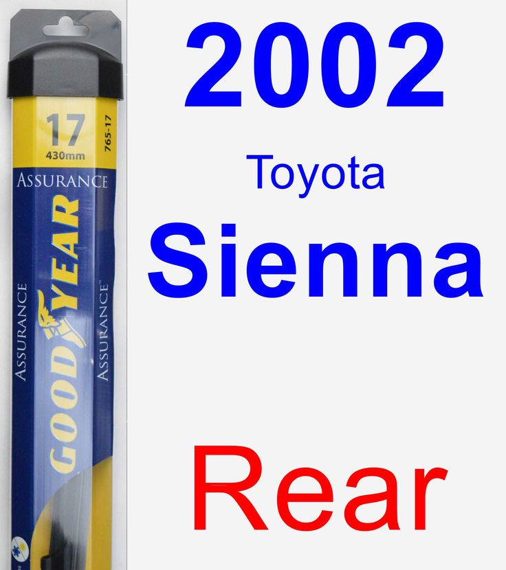 rear wiper blade for 2002 toyota sienna assurance products and toyota. Black Bedroom Furniture Sets. Home Design Ideas