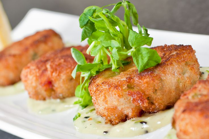 Longwood's yummy Crab cakes. Perfect size for two- but who wants to share?!
