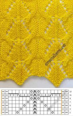 Lace knitting pattern 732