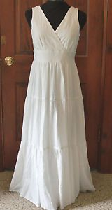 Images Of White Linen Wedding Dresses On Beach Nwt
