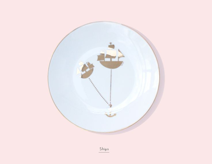 Secon Life of Plates/ SHIPS / Lapinska Porcelain /  www.lapinska-porcelana.com plate porcelain lapinska