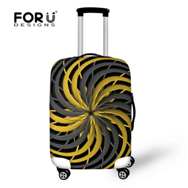 FORUDESIGNS Creative Luggage Covers, Stylish Luggage Cover Vintage Luggage Suitcase Protector Cover For 18-28'' inch suitcase