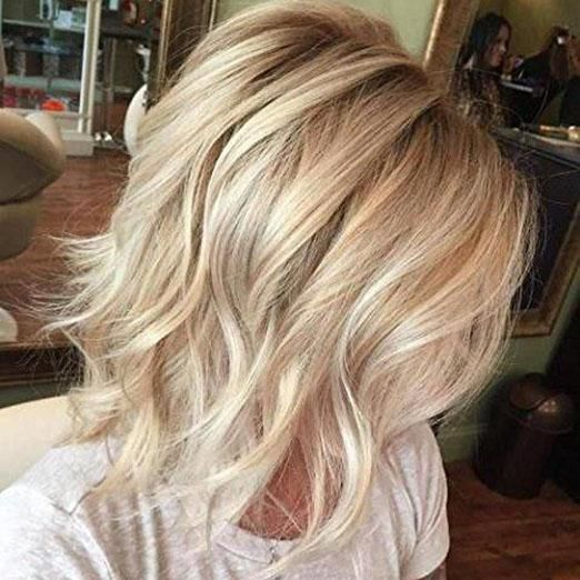 Lace Front Human Hair Wig Real Hair Wigs Blonde Color