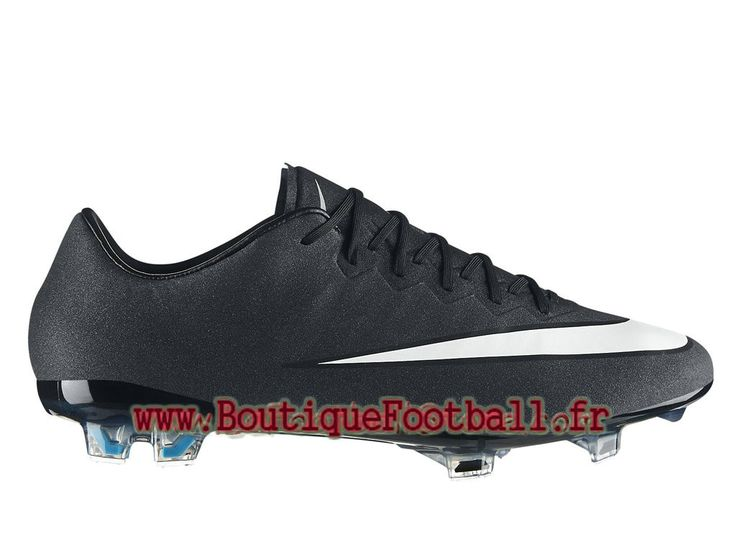 wholesale dealer c77c6 15fc7 ... Nike Mercurial Vapor X FG CR7 Chaussure de football pour terrain sec  pour Homme noir ...
