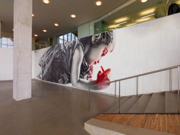 Rapt Studio Commissioned Artist El Mac To Do A Large Scale Mural In The Main Atrium Adobes Lehi Utah Building Th
