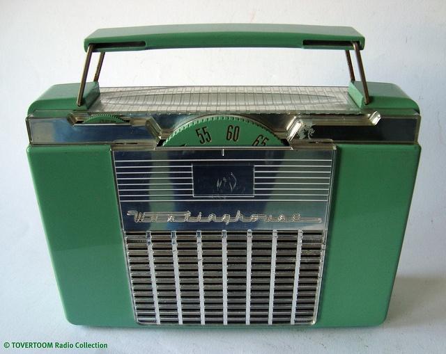 WESTINGHOUSE Small Portable Plastic Tuberadio (USA 1954) by MarkAmsterdam, via Flickr