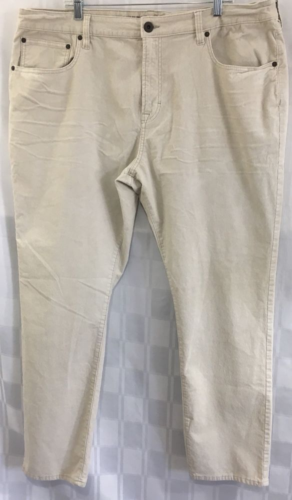 American Eagle Outfitters Mens 42x32 Beige Pants Corduroy Extreme Flex Stretch #AmericanEagleOutfitters #Corduroys