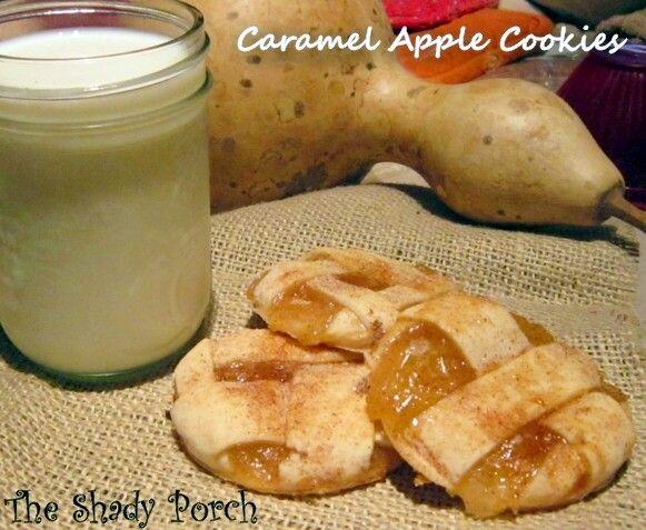 Caramel Apple Pie Cookies #recipe #cookies #apples #dessert