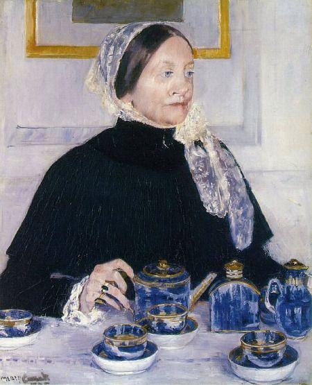 Mary Cassatt (1844-1926) - Lady at the Tea Table, 1884