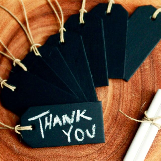 General Eclectic chalkboard tags, 3 tags for only $6!