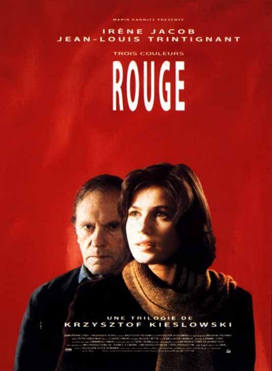 Rouge: 1994 Irène Jacob, Jean-Louis Trintignant, Frédérique Feder