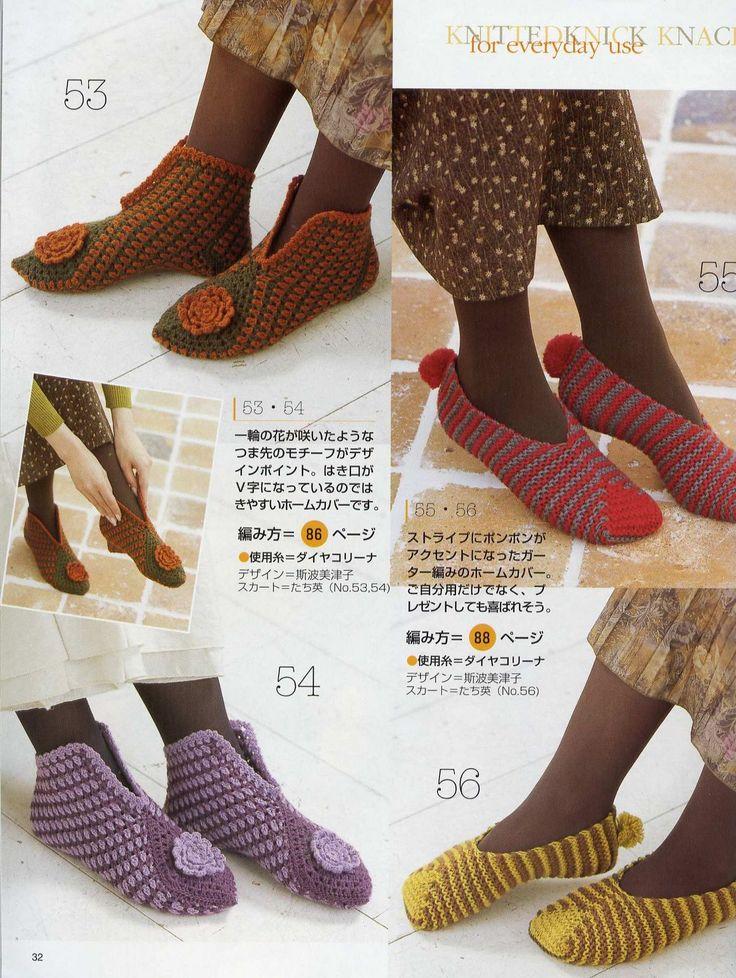 Best 50+ Crochet Pantuflas images on Pinterest | Escarpines ...