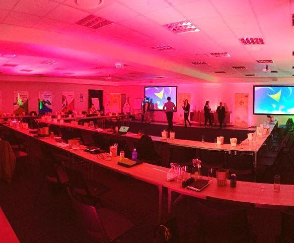 """""""Sight and Sound Johannesburg providing a Power.Full conference today. #set #stage #custom #event #conference #staging #lighting #venue #audiovisual #av #screen #projection #gig #eventtech #eventprofs #meetingprofs #meeting #technical #pr #potd #trussing #dancefloor #rigging #gala #venues #eventplanner #gobo"""" by @sightandsound_ (sightandsound_). • • What do you think about this one? @angry5000 @ankarababesandstyles @antti_lumi @arrow_promotional,@artcentervenue @ashtonsshowgirlhire…"""