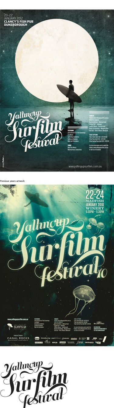 Yallingup Surf Film Festival. Nice typography and imagery.