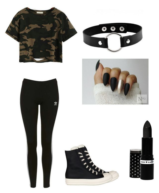 """""""Out"""" by lola2bravo on Polyvore featuring beauty, Topshop, DRKSHDW and Hard Candy"""