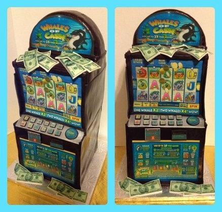 how to make a 3d slot machine cake