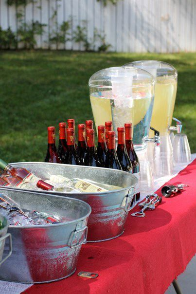 serving alcohol at a wedding