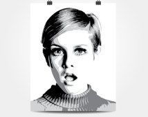 Twiggy Tri-tone Print (Multiple Colors Available)
