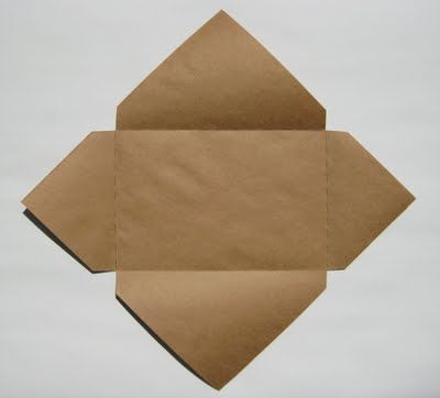 "Easy Envelopes for Handmade Cards .Directions:  1. Lay your card diagonally on a square piece of paper that's just a little larger than your card on each side.  (If you make your card from an 8 1/2"" x 11"" or 9"" x 12"" paper folded in half, then a 12"" x 12"" square will work perfectly for the envelope.  For a small 4"" x 5"" card, a 7"" x 7"" square will work well.)  2. Fold each side up over the card, beginning with one of the shorter sides and ending with one of the longer sides.  If you lightly…"