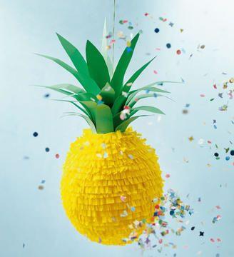 Ananas-Pinata für die nächste Party - Bastelanleitung via Makerist.de