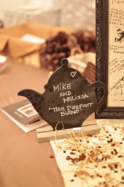 This is so cute! A coffee-themed wedding for under $5000! :D although I don't know if I could do everything coffee themed, I will be stealing some of their adorable decoration tips