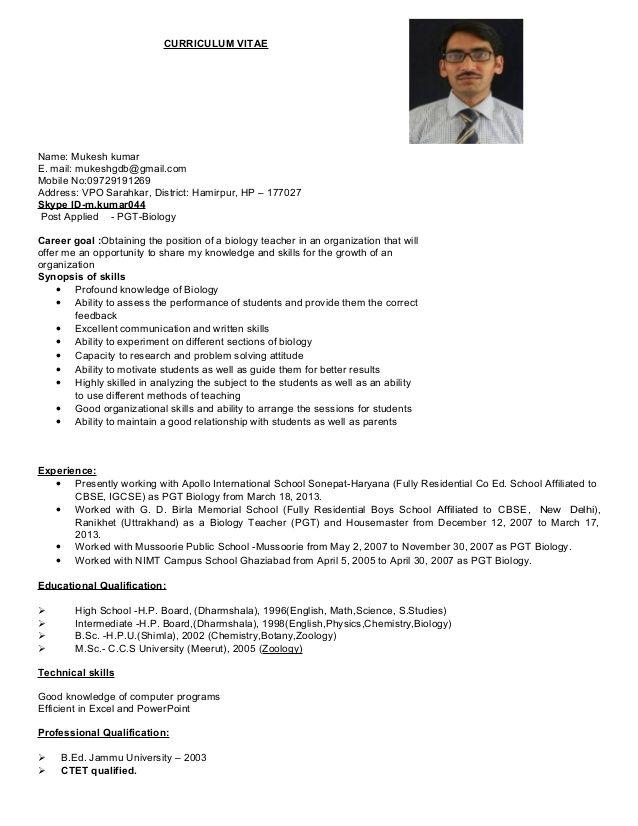 resume format for msc zoology 2 resume format pinterest resume