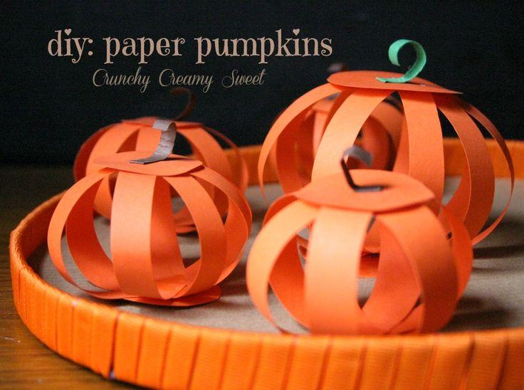 craft: DIY Paper Pumpkins || Crunchy Creamy Sweet