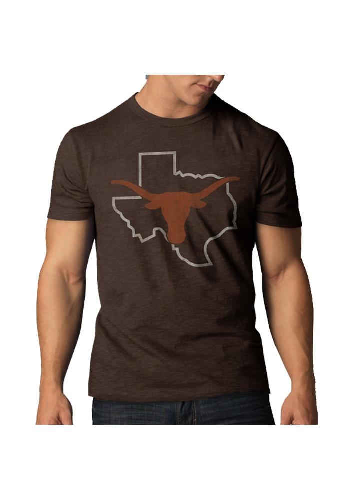 Texas Longhorns '47 Brand Mens Brown Texas Outline T-Shirt