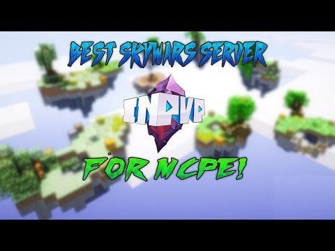 BEST MCPE 1 5+ SKYWARS SERVER // Minecraft Bedrock Edition Inpvp