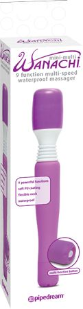 Mini-Multi Wanachi 9 Function Multi-Speed Massager (Lavender)