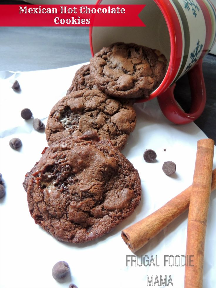 Mexican Hot Chocolate Cookies- chewy, chocolaty cookies with just a ...
