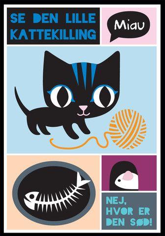 Se den lille kattekilling. A3 – Mini Zoo by Nynne Adelborg