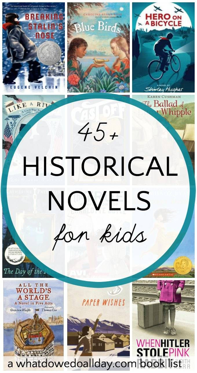A large list of historical fiction books for kids that cover a wide variety of topics and time periods from medieval to 20th century.